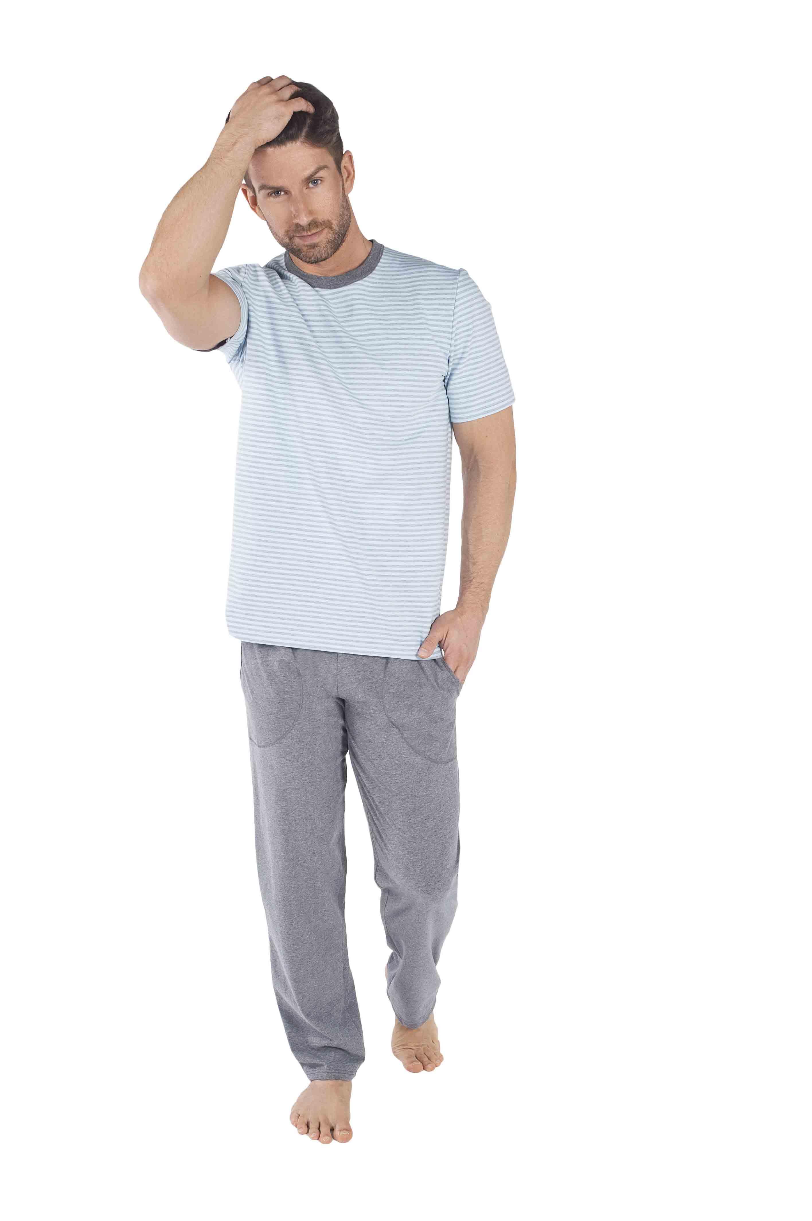 6027e81391e212 Piżama męska Italian Fashion Aramis krótki rękaw/długie spodnie