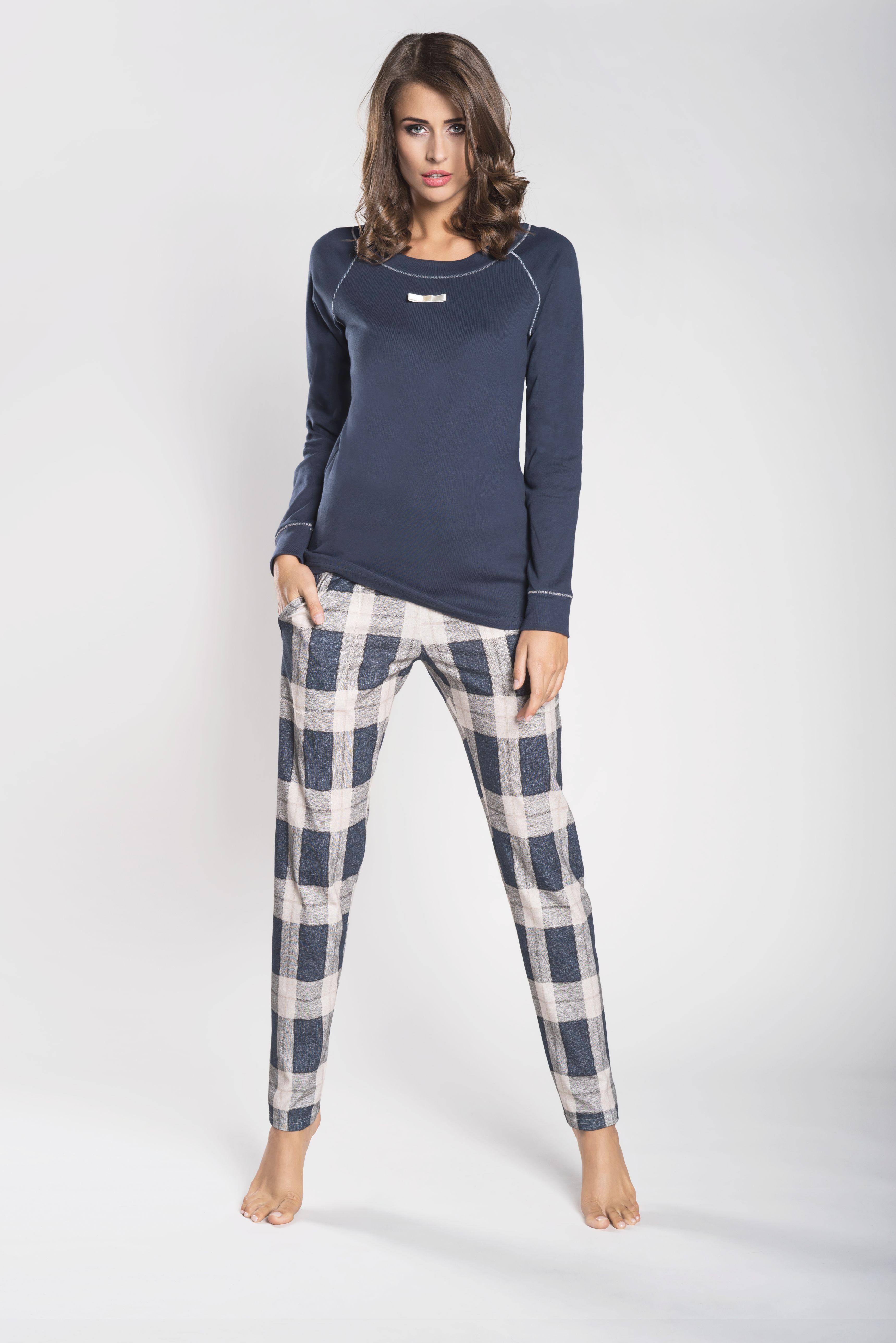 fa28d103c47c22 Piżama damska Italian Fashion Amira długi rękaw/długie spodnie