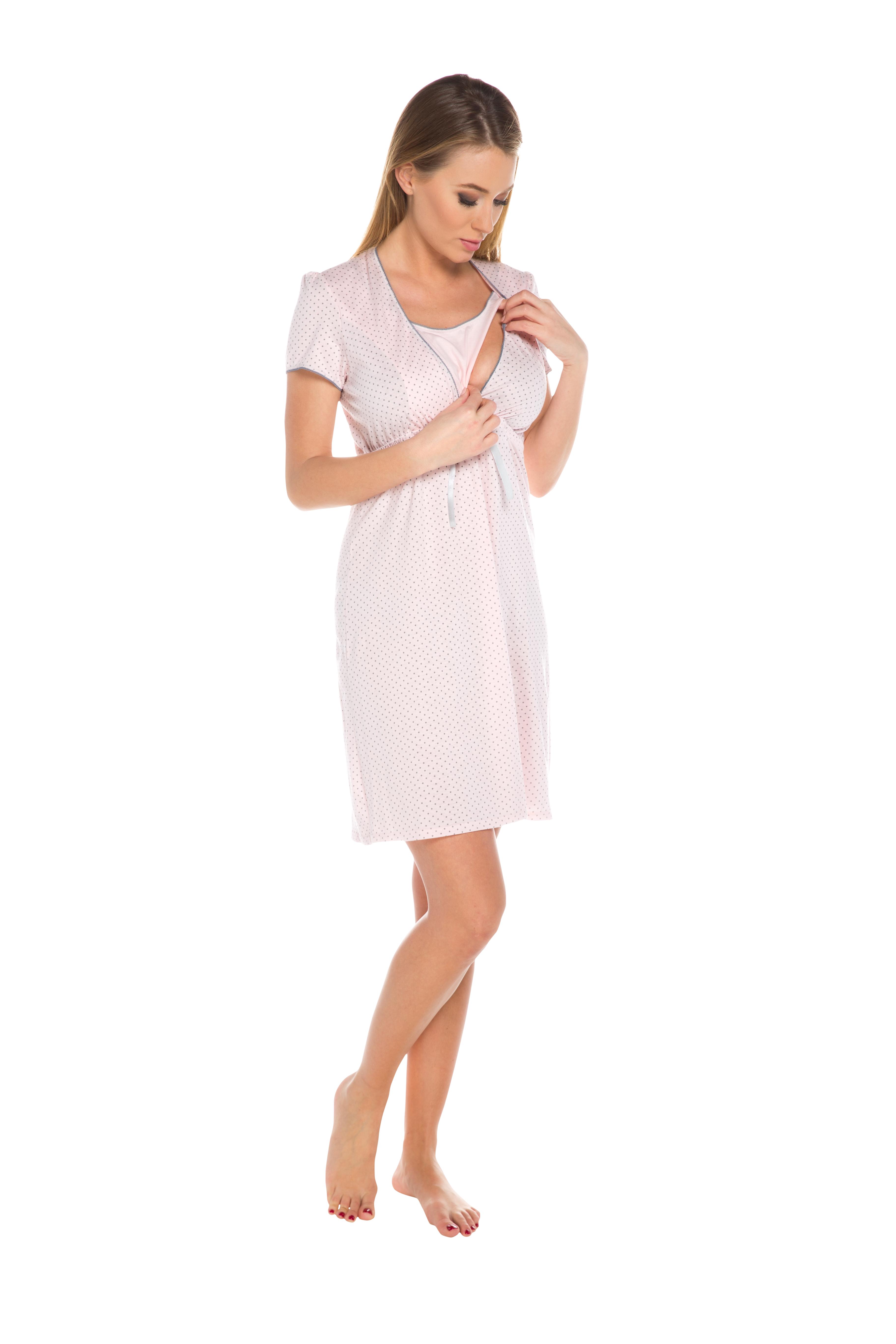 b12a8930bfba51 Koszula nocna Italian Fashion Felicita krótki rękaw
