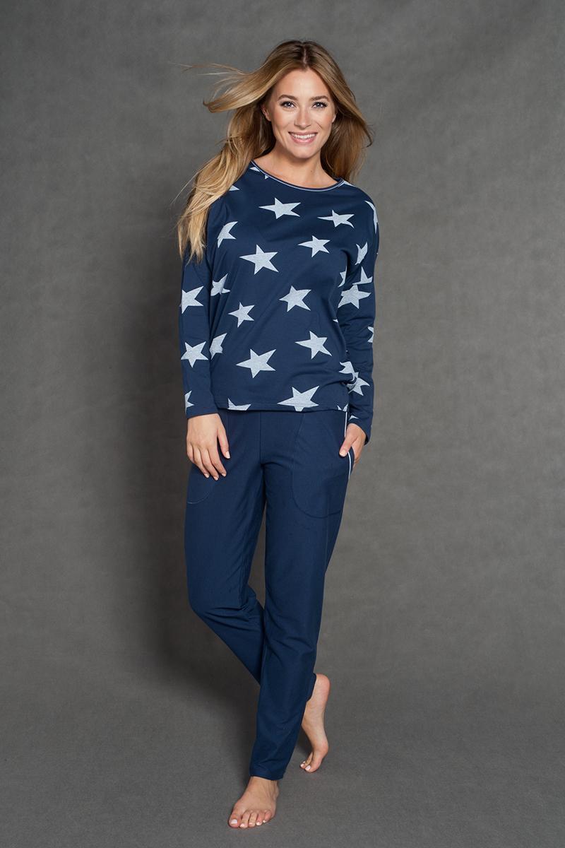 463b23feadc0b8 Piżama damska Italian Fashion Star długi rękaw/długie spodnie