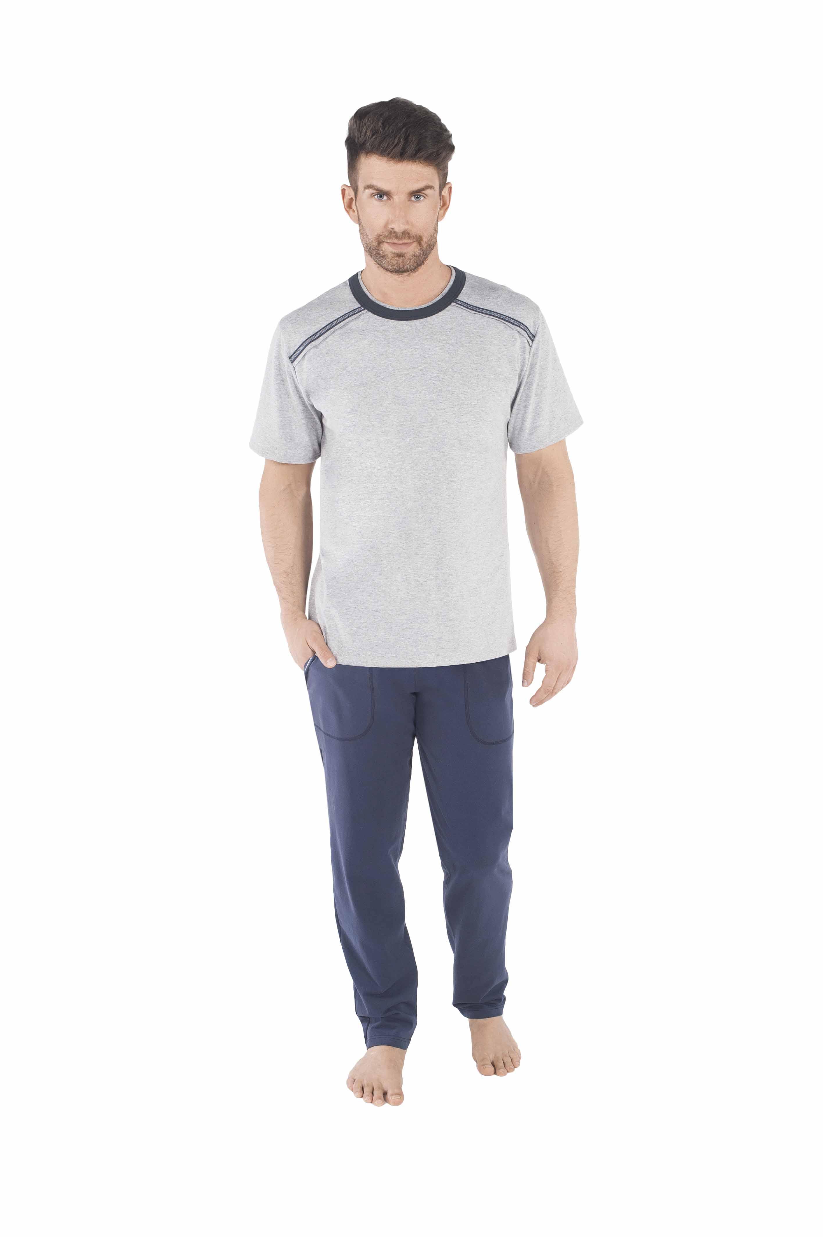 f8fab25af78ae4 Piżama męska Italian Fashion Zbyszek krótki rękaw/długie spodnie rozm.M-XL